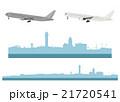 イラスト素材「羽田空港と飛行機」 21720541