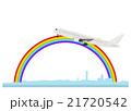 イラスト素材「羽田空港と飛行機」 21720542