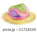 桜餅 白バック 水彩のイラスト 21728200
