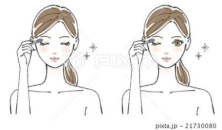 アイシャドウを塗る女性イラスト2のイラスト素材 21730080 Pixta