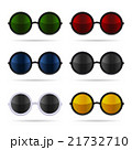 Sunglasses Set with Color Glasses on White 21732710