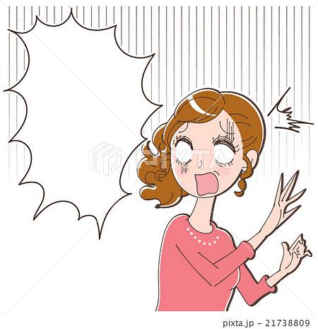ショックを受ける女性のイラスト 21738809