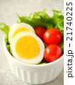 ゆで卵とトマトのサラダ (ハイアングル) 21740225