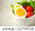 ゆで卵とトマトのサラダ (左スペース) 21740226