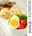 ゆで卵とトマトのサラダ スーコンランチプレート(ハイアングル) 21740230