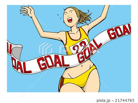 女子マラソンのイメージイラスト 21744765