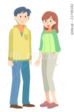 夫婦 30代男性女性のイラスト素材 21746182 Pixta