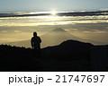 富士山 朝日 山の写真 21747697