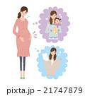 妊婦 悩み イラスト 21747879