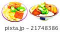 手繪水彩畫插圖在白色背景:滷肉飯 21748386