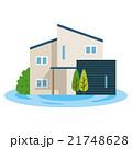 家 住宅 イメージのイラスト 21748628