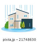 家 住宅 水浸しのイラスト 21748630