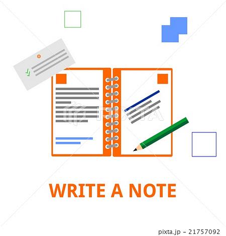 vector - write a noteのイラスト素材 [21757092] - PIXTA