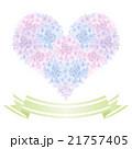 ハート型の紫陽花とリボンバナー 21757405