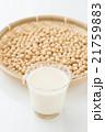 大豆と豆乳 白バック 21759883