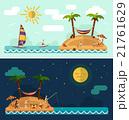 Tropical island, sun, palm, hammock, fishing man 21761629