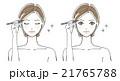 眉毛をかく女性イラスト3 21765788
