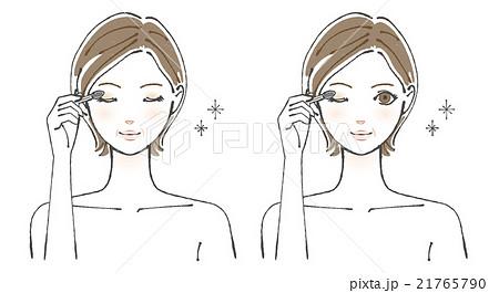 アイシャドウを塗る女性イラスト3のイラスト素材 21765790 Pixta
