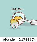崩壊 衰退 歯医者のイラスト 21766674
