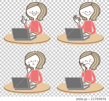 パソコン 女性 21769656