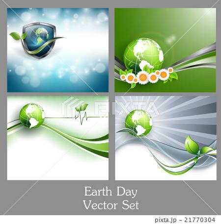Happy earth day vector setのイラスト素材 [21770304] - PIXTA