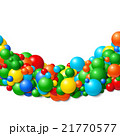 Background frame with scattered rubber balls 21770577