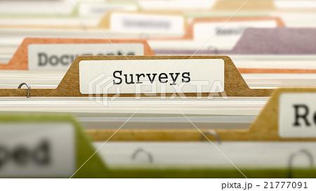 Surveys on Business Folder in Catalog. 21777091