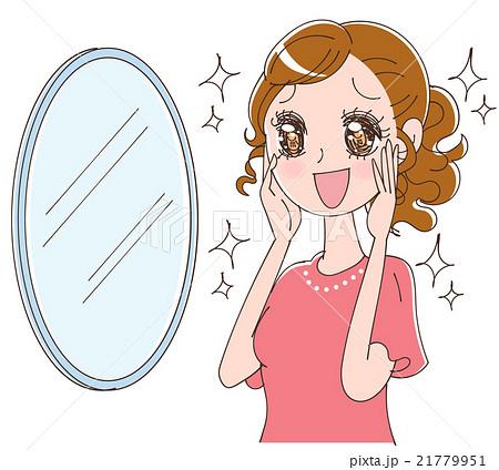 肌の綺麗な女性のイラストのイラスト素材 21779951 Pixta