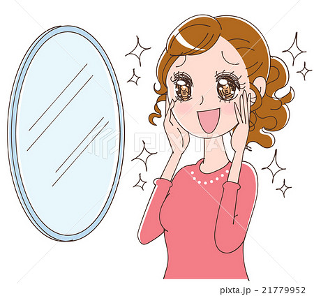 肌の綺麗な女性のイラストのイラスト素材 21779952 Pixta