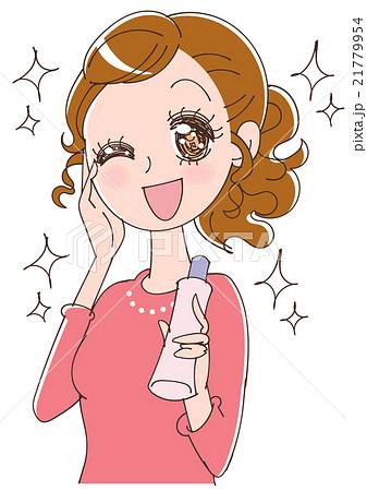肌の綺麗な女性のイラストのイラスト素材 21779954 Pixta