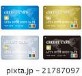 Credit card set Vector 21787097