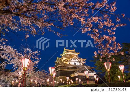 国宝松江城 夜桜 花見 21789143