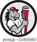 馬 配管工 モンキースパナのイラスト 21803063