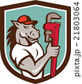 馬 配管工 モンキーレンチのイラスト 21803064