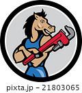 馬 配管工 モンキースパナのイラスト 21803065