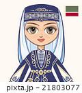The girl in Chechen dress. Portrait. Avatar. 21803077