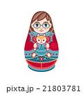 マトリョーシカ お人形さん 人形のイラスト 21803781