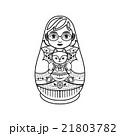 マトリョーシカ お人形さん 人形のイラスト 21803782