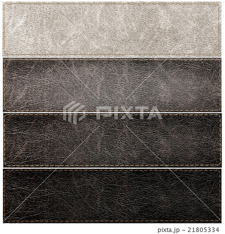 set of leather labels of different colorsの写真素材 [21805334] - PIXTA