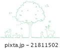 木と動物のイラスト 21811502