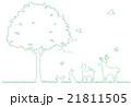 木と動物のイラスト 21811505