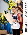 Pretty tourist girl 21816650