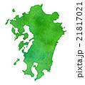 九州地方の地図, 水彩画風 21817021