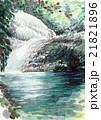 すさみ町雫の滝のスケッチ 21821896
