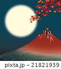 月夜の赤富士 21821939