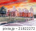 横浜・赤レンガ倉庫のスケッチ画 21822272