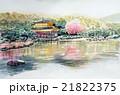 金閣寺のスケッチ 世界遺産 京都観光 21822375