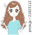 女性 髪 ヘアケアのイラスト 21823112
