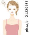 シートマスク スキンケア 女性のイラスト 21829463