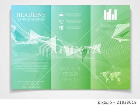tri fold brochure vector design templateのイラスト素材 21833618